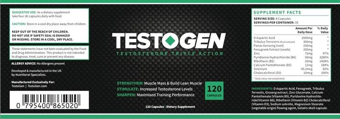 Opkøb Testogen - Testosteron Strength Agent i Århus Danmark